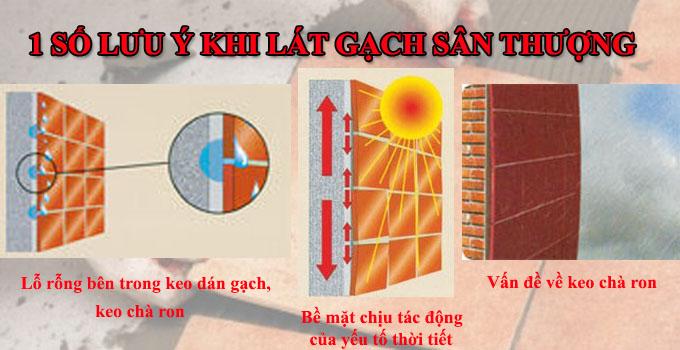 Gạch lát sân thượng chống thấm hiệu quả