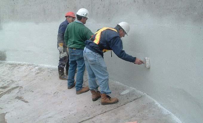 vật liệu chống thấm tầng hầm dạng quét