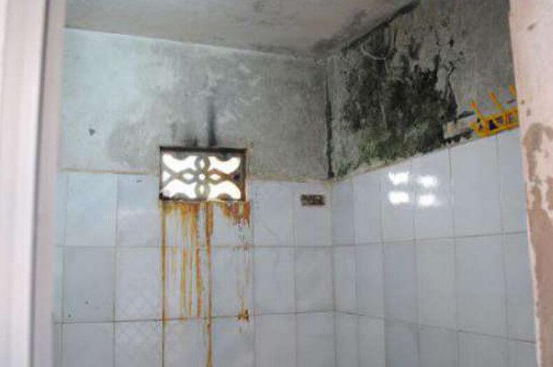 Nhà vệ sinh bị thấm dột