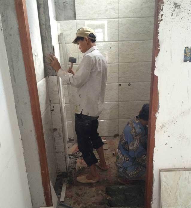 Chống thấm nhà vệ sinh cho văn phòng tại Hà Nội triệt để.3