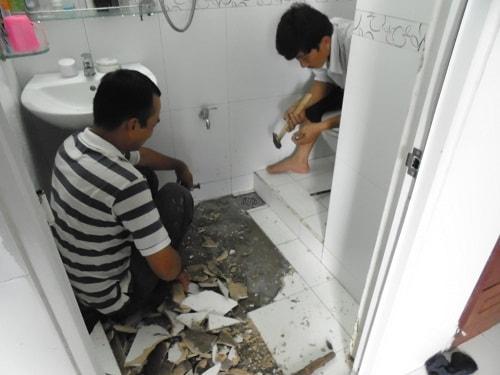 Quy trình thực hiện chống thấm nhà vệ sinh bằng vật liệu Sika
