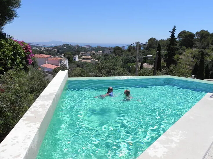 Mẫu bể bơi trên sân thượng số 3