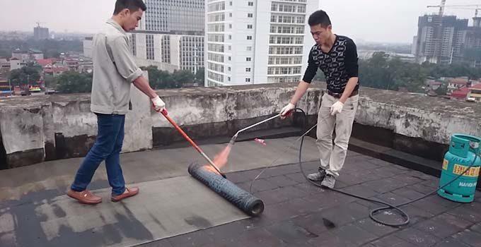 Thi công màng chống thấm khò nóng