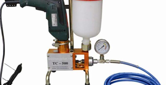 Máy bơm keo PU chống thấm Epoxy AHP-500