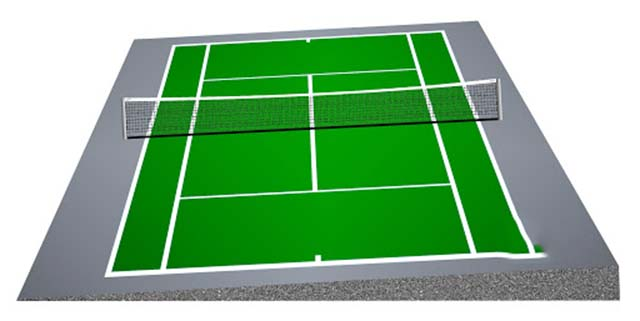 Độ dốc tiêu chuẩn sân tennis